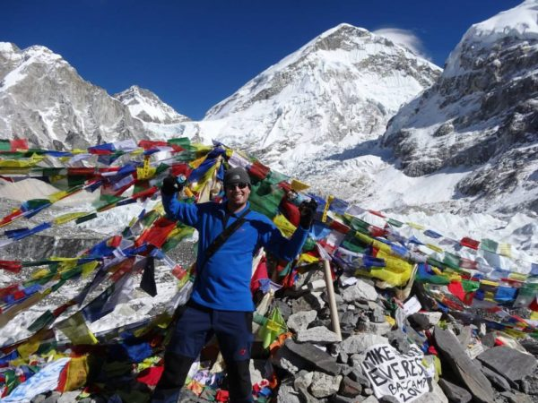 Jeremy at Everest Base Camp
